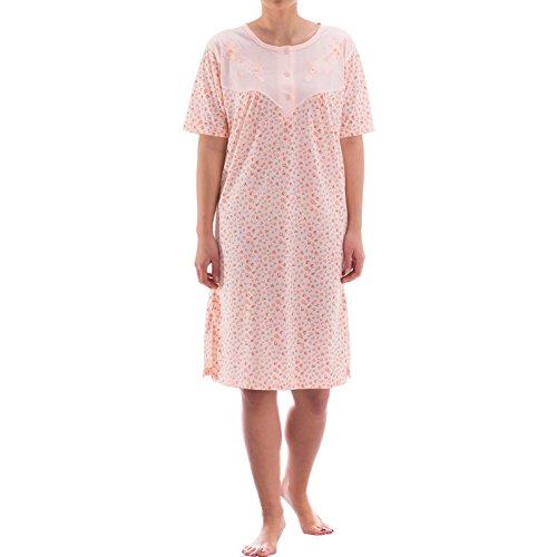 Zeitlos Nachthemd kurzarm mit floralem Druck (XXL, apricot)