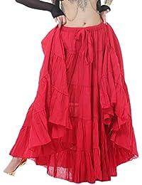 Mishuo Faldas Baile Flamenco Boho Gitano Largas Plisadas Mujer 720 Degrees Vintage Carnaval Fiesta Boda (