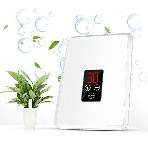 Generador de Ozono ionizador purificador de aire, Ozonizador doméstico 400mg para las habitaciones, el humo, los coches y las mascotas(Blanco)