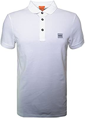 Hugo Boss Men's Hugo Boss Orange Men's Slim Fit White Pavlik Polo Shirt
