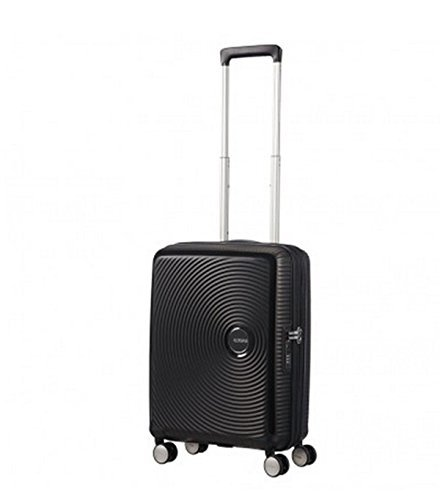 American Tourister - Soundbox Spinner Expandible, 55cm, 35,5/41 L - 2,6 KG, Negro (Bass Black)