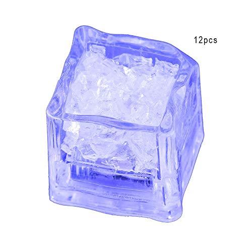s Bunter Wasser Sensor Multi Farben ändern Blinkend Blinkend Led Eiswürfel Event Party LED Leuchtend für Hochzeitsfeier Dekorativ(Blau) ()