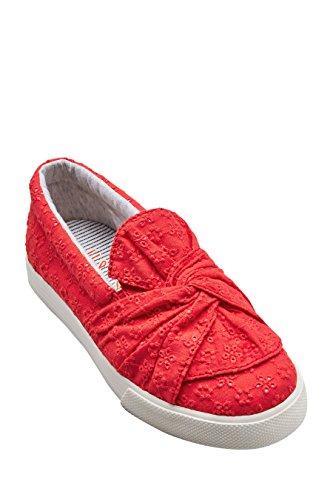 next Chaussures Skater Avec Nœud (Fille) Standard Fille Rouge