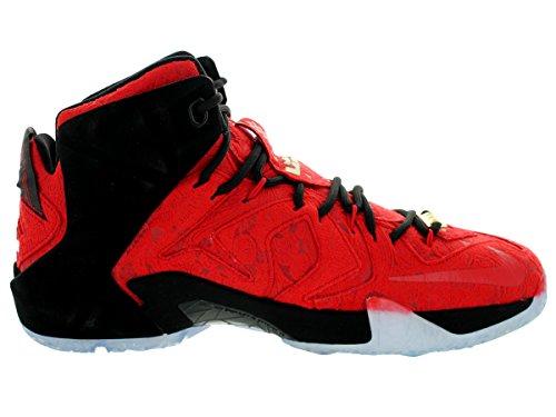 Gli Uomini Lebron Nero Xii Scarpe 861 600 Rosso Nike Ext Metallizzato Per Università Montate 748 0ZAYq