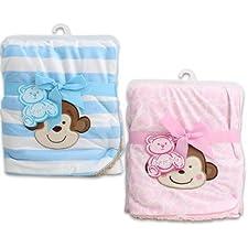 76,2x 76,2cm Little Mimos für Neugeborene rosa Baby Decke