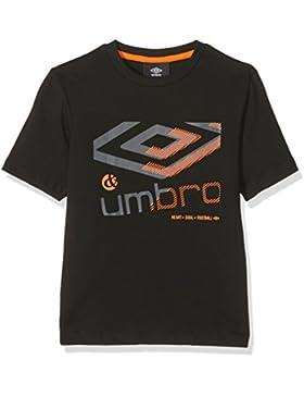 Umbro 515810-40 - Camiseta para niño, Niño, Camiseta, 515810-40, negro, 18-24 Meses