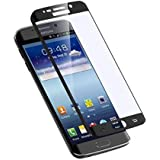 High Quality Coloured Curved Temper/Tempered Glass Screen Protector for Samsung Galaxy S7 Edge (Black)