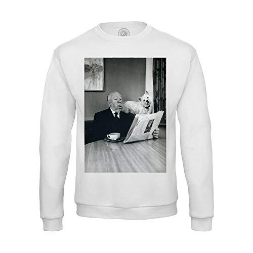 fabulous Herren Sweatshirt Foto von Star berühmten Regisseur Alfred Hitchcock Film Original 8