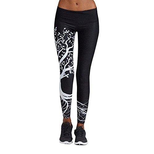 Women's 3D Tree Digital Print High Waist Skinny Push Up Leggings Fitness Yoga Pants