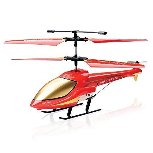 Gostock 3.5ch elicottero telecomandato piccolo per bambini con gyro & led - rtf (rosso)