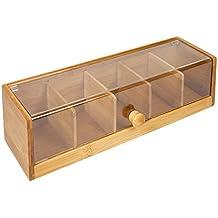 1329ccbb1 Caja de 5 compartimientos para bolsitas de té en bambú, ...
