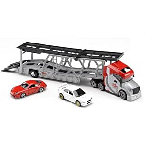 majorette grand camion de transport de voiture jeux et jouets. Black Bedroom Furniture Sets. Home Design Ideas