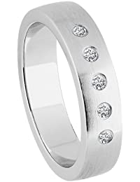 Bella Donna Damen- Ring 925 SilberSilber 5 Brillanten ca. 0,10 ct. Weiß Piquè