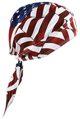 Ababalaya Herren 100% Baumwolle Amerikanische Flagge Dehnbar Durag Doo Rag Hip Hop Bandanas Kopftuch,1 (Wasser-ski-flagge)