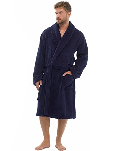 Cómoda bata hombre suave cómoda franela, ropa noche