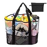Srotek 39L Strandtasche Netztasche Beach Bag große Badetasche Shopper Handtasche Kinderspielzeug-Sack Badezeug Aufbewahrungstasche für Baden/Schwimmen/Strandurlaub