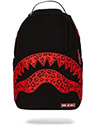 62c3a2aa2 Sprayground Red Leopard Rubber Shark Backpack Black