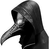 QZY Remaches De Acero Negro Máscara De Buitre, Steampunk Peste Pájaro Máscara De Boca-