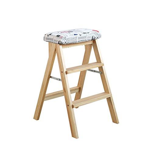 LIZITD Schritt Hocker, Massivholz europäischen Stil Einfache Holzfarbe,...