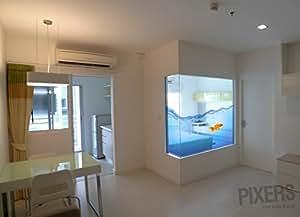 AQUARIUM Fenstersticker Hauseinrichtung 190 x 160 cm | PIXERS