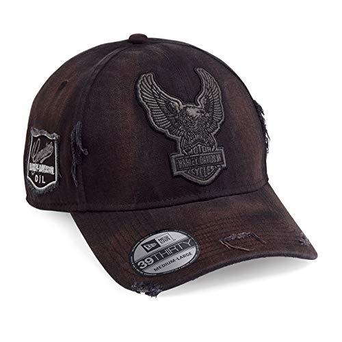 HARLEY-DAVIDSON® Men's Upright Eagle Patch 39THIRTYCap - 99436-18VM (Mens Harley Davidson Eagle)