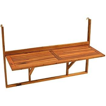 gartenmoebel einkauf table de balcon suspendue 120 x 40 cm. Black Bedroom Furniture Sets. Home Design Ideas