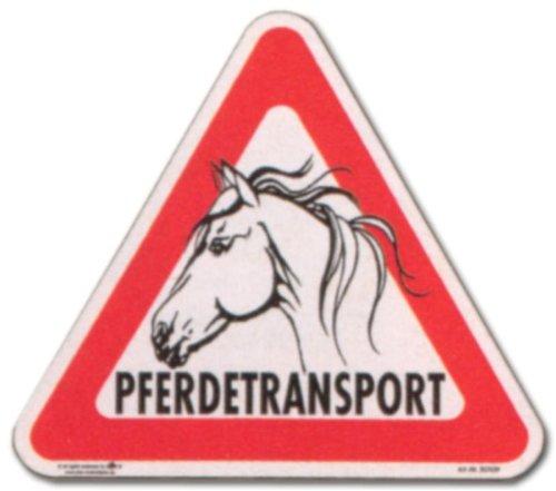 Aufkleber - Pferdetransport - Pferd Transport Vieh Tiere Tier Transportieren Schild Warnschild Warnzeichen Arbeitssicherheit (Zaun Vieh)
