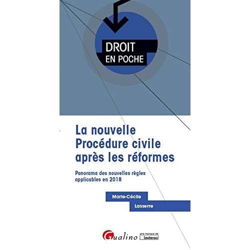 La nouvelle procédure civile après les réformes. Panorama des nouvelles règles applicables en 2018