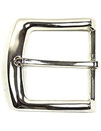 Einfache Gürtelschnalle - Buckle 40 mm Metall Dornschliesse für Gürtel mit 4 cm Breite M 6