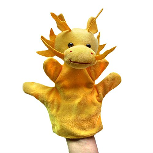 Kuhu Creations® Supreme Imagination Stories Puppet. (MHP Dragon Yellow)