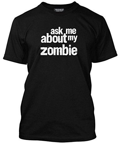 HotScamp Premium Ask Me My Zombie impressione maglietta adulti, ragazzi e bambini con molti colori, tutte le misure XS S M L XL XXL 3X L Jet Black Età 5/6 - 76,2 cm
