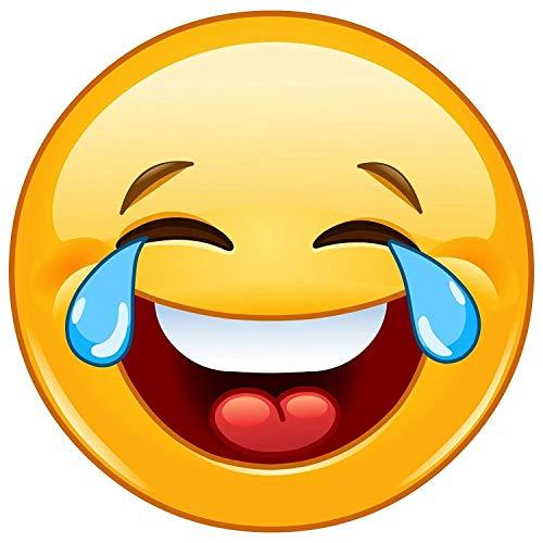 easydruck24de 4er Set Smiley-Aufkleber Tears I kfz_306 I rund Ø 5 cm I Emoticon Sticker lachend für Smartphone Tablet Laptop Roller Tür Auto und mehr I wetterfest