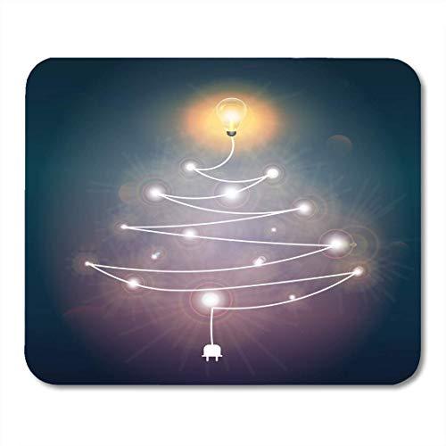 Alfombrilla Ratón Árbol Navidad Energía Roja Alambre