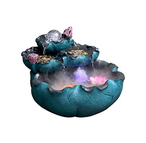 DAGE&NN Statuen Kristallkugel Brunnen Desktop Wasser Ornamente Wohnzimmer Kreative Wohnaccessoires Kreative Schreibtisch Indoor @ Blue_45Cm * 45Cm * 35Cm (Schreibtisch Brunnen)