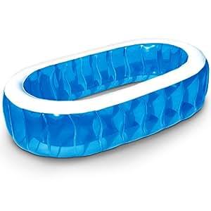 Piscine gonflable bleue ovale 243 x 152 x 51 for Piscine amazone