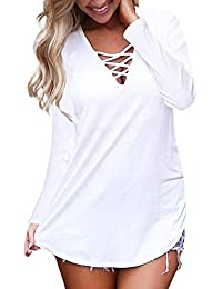 Mujer Blusa Camiseta Floral Impresión Vintage Bohemian Traje de otoño Calle y Playa,Sonnena Camisetas