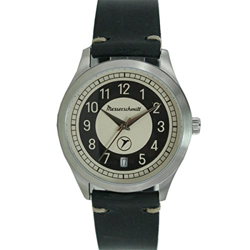Aristo Messerschmitt Uhr vintage Kabinenroller KR201-S Leder