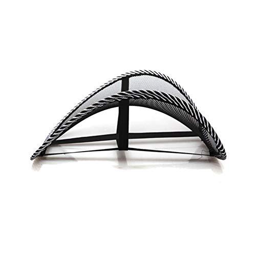 VisvimQ Cool Vent Massagekissen Mesh Back Lumber Support Bürostuhl Autositz Pad Autoinnenausstattung Sitzkissen Schwarz New Auto Care (Farbe : Schwarz) -