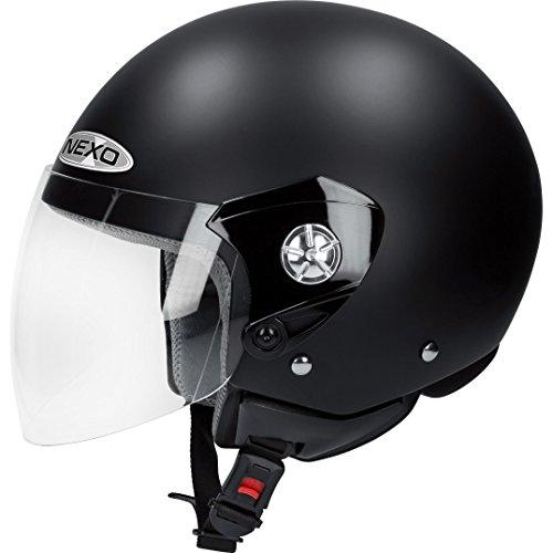Nexo Motorradhelm, Halbschalenhelm, Jethelm Demi Jet Helm City Mattschwarz L, Unisex, Chopper/Cruiser, Ganzjährig, Thermoplast, matt schwarz