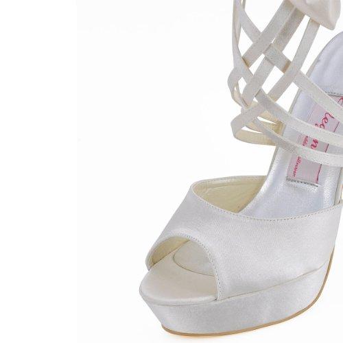 Elegantpark, Chaussures Avec Plateforme Femme Ivoire