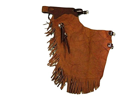 Bar-B-Bar-B-Bar-B-Western-Chaps-Adult-Basic-Buckle-Strap-Jr-Brown-05-05-0054
