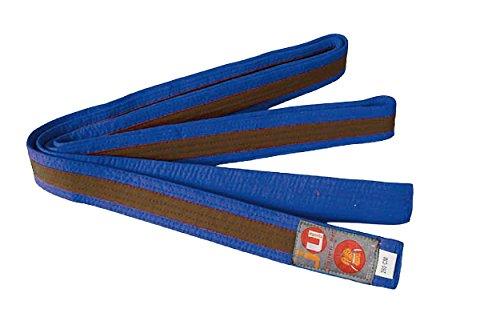 Ju-Sports Budogürtel mit Mittelstreifen 200 cm blau/braun/blau