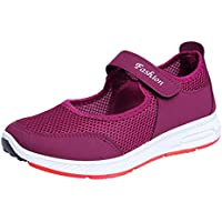 Zapatillas Deportivas de Mujer - Talla 35 a 41 - Casual Verano Transpirables Zapatos de Deporte con Plataforma - Fitness Gimnasia Ligero Sneakers de Running Sandalias