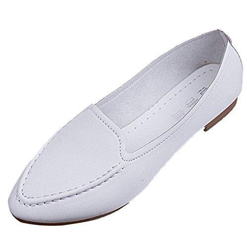 Minetom Femme Bout Pointu Plat glissement de la Pompe Sur Casual Sneaker Low Top Chaussures de Patineur