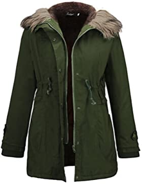TT & ShangYi largo acolchado de mujer, Abrigo Vintage para USCIRE Casual liso algodón poliéster poliéster manga...