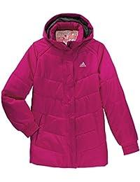 f164a4215 adidas Girls Padded Jacket Juinor Youth Hooded Jacket Coat - Pink