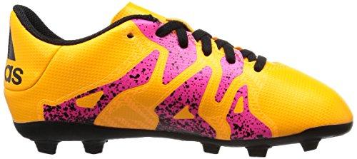 adidas Unisex-Kinder X 15.4 Fg Junior Fußballschuhe Orange (Solar Gold/Core Schwarz/Shock Pink)