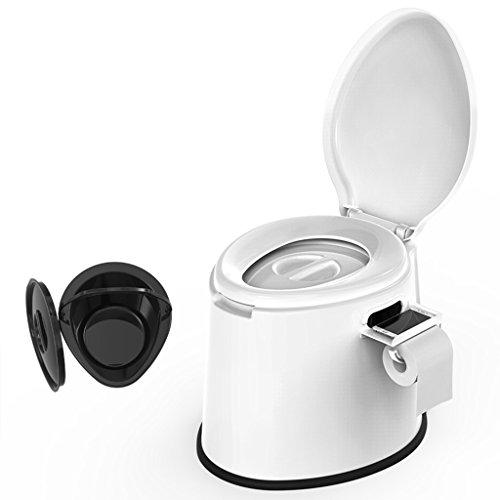 LI JING SHOP - La chaise portative de toilette peut se déplacer pour des enfants et des femmes enceintes à l'intérieur du canon X1 Environmental PP Résine 41X50X39cm Couleur: Blanc ( Couleur : Non-slip rubber ring )