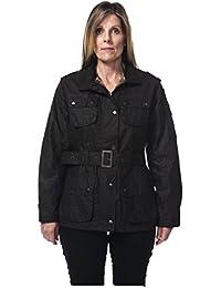 Hunter Outdoor Nevada Ladies Waxed Cotton Biker Style Jacket