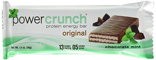 Power Crunch Protein Energy Bar, Chocolate Mint, 1.4-ounce Bars, 12Zählen -